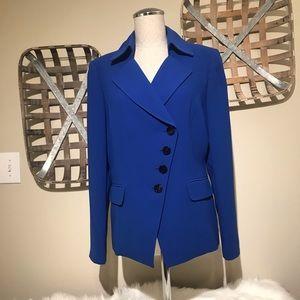 TAHARI Cobolt Blue asymmetrical blazer